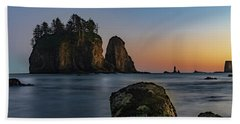 Sea Stacks At La Push Beach Towel