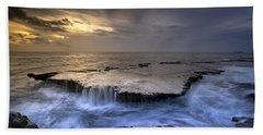 Sea Waterfalls Beach Towel