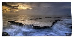 Sea Waterfalls Beach Towel