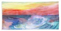 Sea Wave Beach Towel