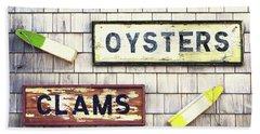 Seafood Signs Beach Sheet