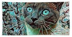 Seal Point Siamese Cat  Beach Towel