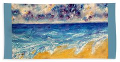 Beach Towel featuring the painting Searching For Rainbows by Tracy Bonin