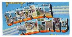 Seaside Heights Greetings Beach Sheet