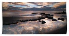 Seaside Reef Sunset Beach Towel