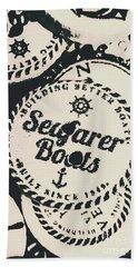Seaside Sailors Badge Beach Towel