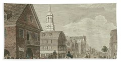 Second Street North From Market St. And Christ Church Beach Towel