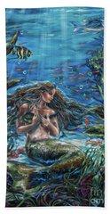 Secret Garden In The Sea Beach Towel