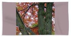 Seeing Autumn Beach Sheet