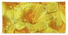Selective Yellow Lilies Beach Sheet
