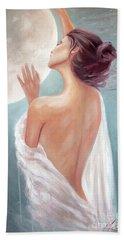 Selene Moon Goddess Beach Towel