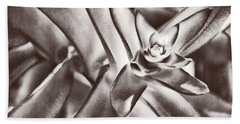 Beach Towel featuring the photograph Sensual Succulent I by Leda Robertson