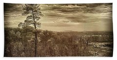 Sepia Sunset Beach Towel