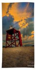Setting In The Clouds Beach Towel