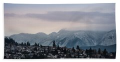 Beach Towel featuring the photograph Seymour Winterscape by Juan Contreras