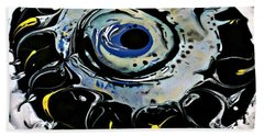 Beach Towel featuring the painting Sgc.m87  by 'REA' Gallery