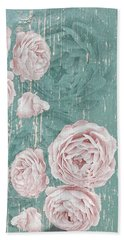 Shabby Chic Roses Distressed Beach Sheet