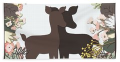 Shadowbox Deer Beach Towel