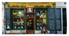 Shakespeare And Company Bookstore Beach Sheet