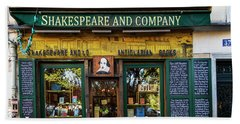 Shakespeare And Company Bookstore Beach Towel