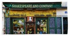 Shakespeare And Company Bookstore Beach Sheet