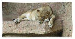 She Lion Beach Towel