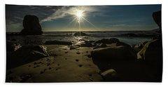 Shell Beach Sunburst Beach Towel