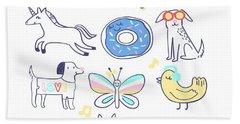 Shine Bright - Baby Room Nursery Art Poster Print Beach Towel