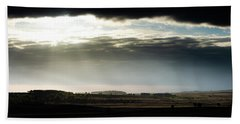 Beach Towel featuring the photograph Shining Through At Baslow Edge by Scott Lyons