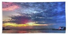 Ship Bottom Sunset Beach Towel