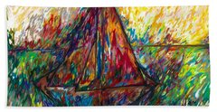 Ship In Color Beach Towel