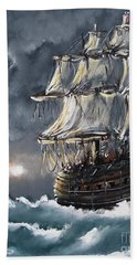 Ship Voyage Beach Towel