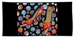 Shoes By Joan - Frangipani Pattern Pumps Beach Towel