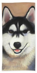 Siberian Husky Beach Sheet