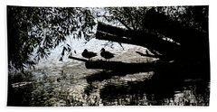 Silhouette Ducks #h9 Beach Towel