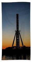 Silhouette Of A Ferris Wheel Beach Sheet