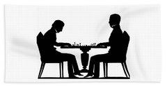 Silhouette Of Chess Players, Around 1845 Beach Sheet