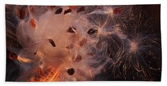 Beach Towel featuring the photograph Silky Milk Pod In Magic Light 4 by Tatiana Travelways