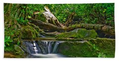 Sims Creek Waterfall Beach Towel