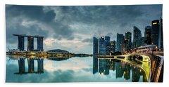 Singapore Lighst Beach Towel