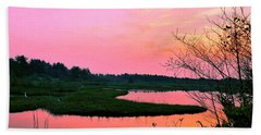 Beach Towel featuring the photograph Sitka Sedge Sunset by Chriss Pagani