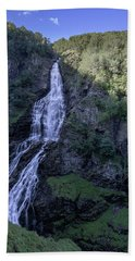 Beach Towel featuring the photograph Sivlefossen, Norway by Andreas Levi