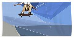 Skateboarder Beach Sheet