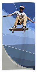 Skateboarder Beach Towel