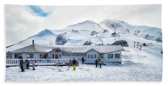 Beach Sheet featuring the photograph Ski Center On Top Of The Bayo Hill by Eduardo Jose Accorinti