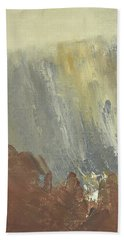 Skogklaedd Fjaellvaegg I Hoestdimma- Mountain Side In Autumn Mist, Saelen _1237, 90x120 Cm Beach Towel