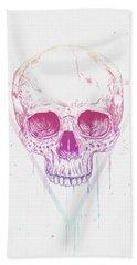 Skull In Triangle Beach Towel