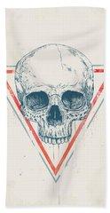 Skull In Triangles Beach Towel