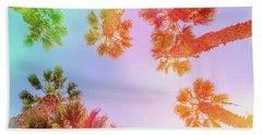 Sky And Palm Trees Beach Towel