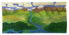 Sky River To Sea Beach Towel